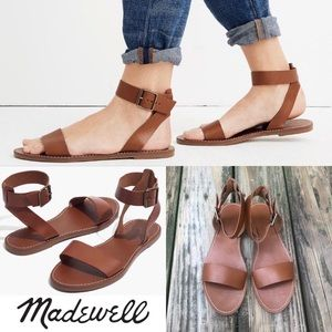 MADEWELL Boardwalk Ankle Strap Sandals NWT